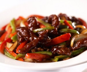 Stir-fried Alberta Rib Eye Stripes in Spicy and Black Vinegar Sauce by Chef Timmy Tsui