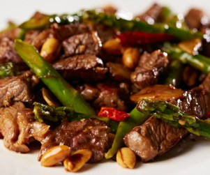Stir-Fried Alberta Rib Eye Steak with Sichuan Mala Peanuts by Chef Ming Yeung