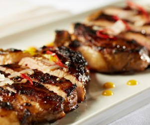 Pan-fried Alberta Pork Loin Chops in Red Wine Sauce by Chef Tony Wu