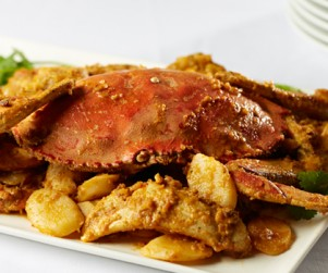 Pan-fried B.C. Dungeness Crab with Salted Egg Yolk by Chef Timmy Tsui