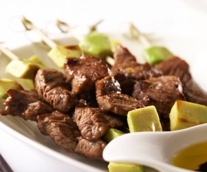 Pan-fried Alberta Beef Skewer with Cumin Powder by Chef Wing Ho