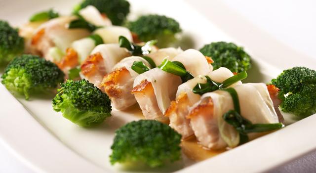 Steamed Alberta Roast Pork Belly in White Jade by Chef Wing Ho