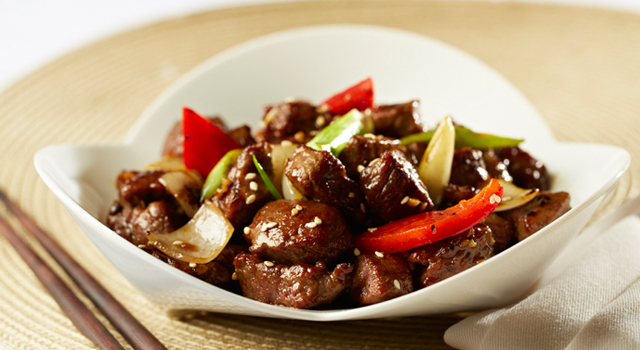 Stir-fried Alberta Beef Tenderloin Cubes with Teriyaki Sauce by Tony Wu
