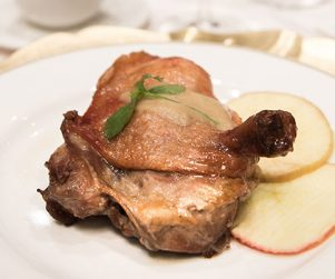 Roasted Fraser Valley Duck Leg, with Cognac by Chef Sam Leung